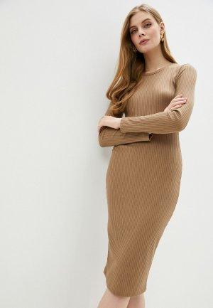Платье Lacitta. Цвет: бежевый