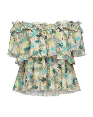 Блузка DIXIE. Цвет: песочный