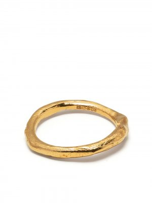 Textured-finish circular-design ring Alighieri. Цвет: золотистый