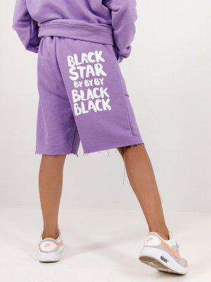 Шорты KIDS ART Black Star Wear. Цвет: фиолетовый