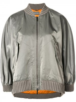 Boxy-fit bomber jacket Alberta Ferretti. Цвет: серый