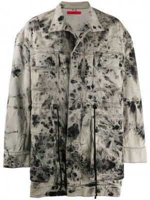 Джинсовая куртка с принтом тай-дай Eckhaus Latta