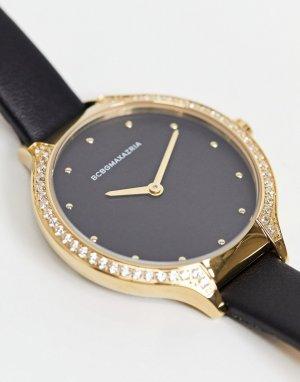 Часы с золотистой отделкой BCBG Max Azria-Черный цвет MaxAzria