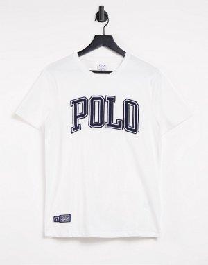 Белая футболка с большим логотипом спереди -Белый Polo Ralph Lauren