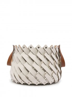 Плетеная корзина Pinetti. Цвет: белый