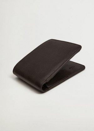 Бумажник из искусственной кожи - Wallet Mango. Цвет: коричневый