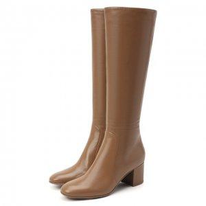 Кожаные сапоги Gianvito Rossi. Цвет: коричневый