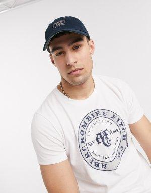 Темно-синяя кепка с нашивкой-логотипом -Темно-синий Abercrombie & Fitch
