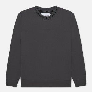 Мужская толстовка Logo Jacquard Crew Neck Calvin Klein Jeans. Цвет: серый