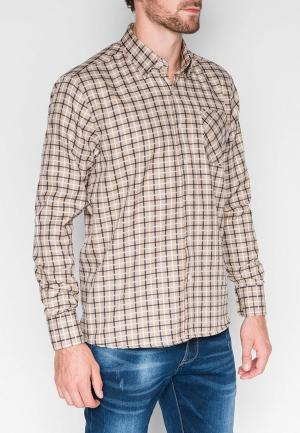 Рубашка Ombre. Цвет: бежевый