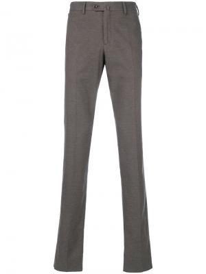 Классические брюки-чинос Loro Piana. Цвет: серый