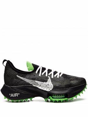 X Off-White Air Zoom Tempo NEXT% sneakers Nike. Цвет: черный/белый-scream зеленый