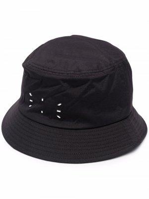 Logo-patch bucket hat MCQ. Цвет: черный