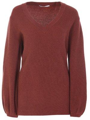 Кашемировый пуловер AGNONA. Цвет: разноцветный