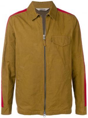 Классическая куртка с контрастными полосками Aspesi. Цвет: коричневый