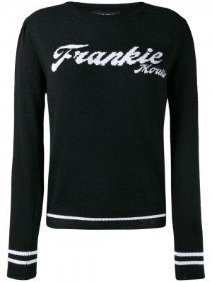 Пуловер с логотипом Frankie Morello. Цвет: черный