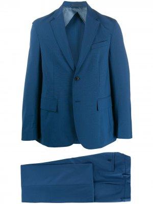 Строгий костюм-двойка Valentino. Цвет: синий