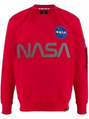 Толстовка со светоотражающим принтом NASA Alpha Industries. Цвет: красный