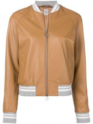 Куртка-бомбер Eleventy. Цвет: коричневый