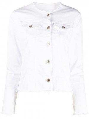 Джинсовая куртка Bair Duchess 7 For All Mankind. Цвет: белый