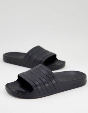 Полностью черные шлепанцы adidas Originals Adilette-Черный performance