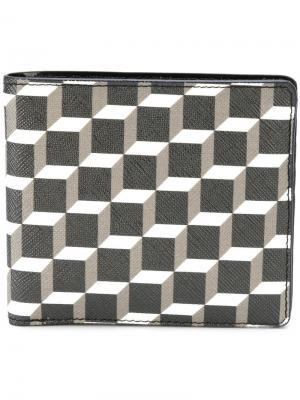 Бумажник с геометрическим принтом Pierre Hardy. Цвет: черный