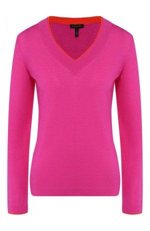 Шерстяной пуловер Escada. Цвет: фуксия