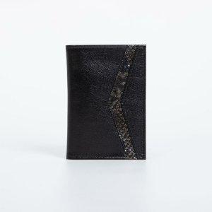 Обложка для паспорта, цвет чёрный TEXTURA