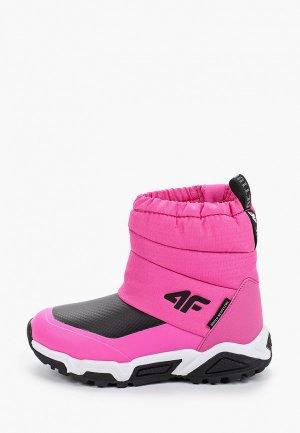 Дутики 4F. Цвет: розовый