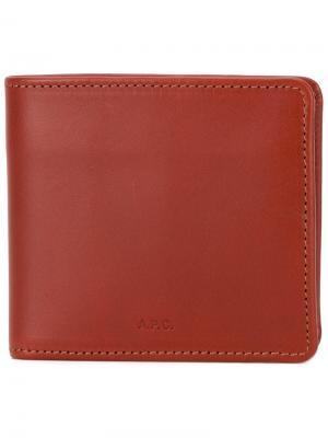 Классический бумажник A.P.C.. Цвет: красный