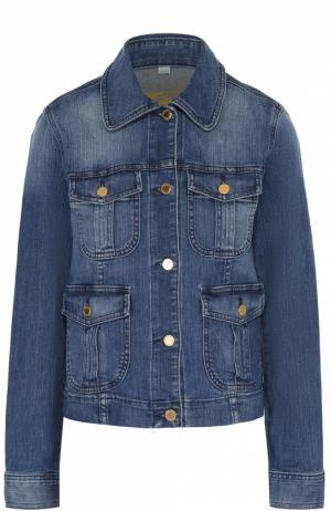 Джинсовая куртка прямого кроя с накладными карманами MICHAEL Kors. Цвет: голубой