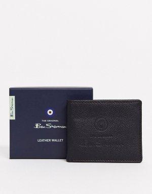 Кожаный бумажник -Черный Ben Sherman