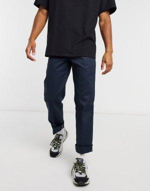 Темно-синие узкие брюки с прямыми штанинами -Темно-синий Dickies