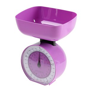 Весы кухонные luazon lvkm-503, механические, до 5 кг, чаша 1000 мл, фиолетовые Home