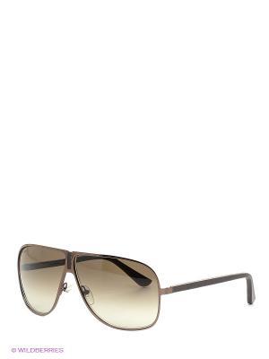Очки солнцезащитные SF 102SL 208 Salvatore Ferragamo. Цвет: коричневый