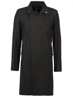 Комбинированное пальто Ann Demeulemeester. Цвет: черный