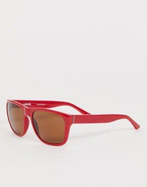 Красные солнцезащитные очки в квадратной оправе Levis-Красный Levi's