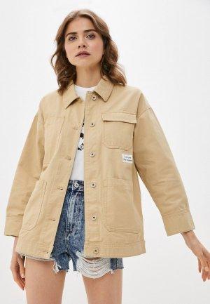 Куртка джинсовая Ostin O'stin. Цвет: бежевый