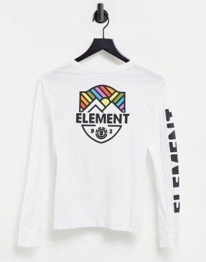 Белый лонгслив Beamin Element