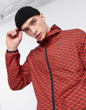 Красная спортивная куртка с узором -Красный Criminal Damage