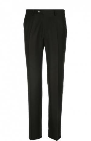 Классические шерстяные брюки Brioni. Цвет: черный
