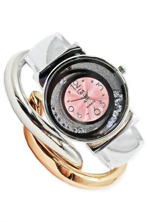 Часы наручные Taya. Цвет: серебристый, розовый