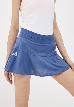 Юбка adidas T MATCH SKRT PB. Цвет: синий