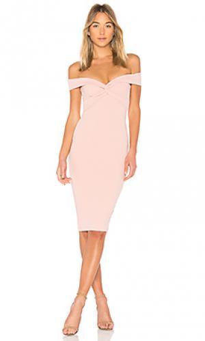 Платье миди dolly Nookie. Цвет: розовый
