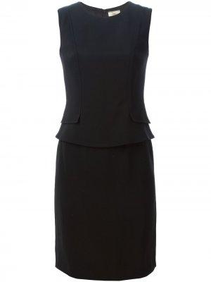 Платье с баской Issa. Цвет: черный