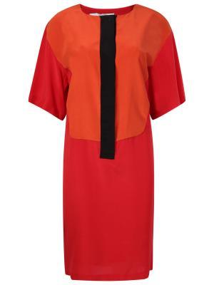 Шелковое платье Aquilano.Rimondi. Цвет: разноцветный