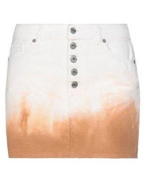 Джинсовая юбка DIXIE. Цвет: белый