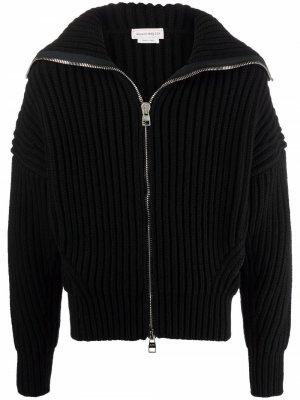 Куртка на молнии Alexander McQueen. Цвет: черный