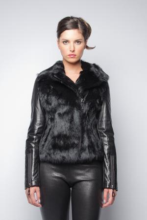 Куртка John & Yoko. Цвет: black