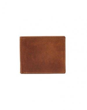Бумажник TOPMAN. Цвет: желто-коричневый